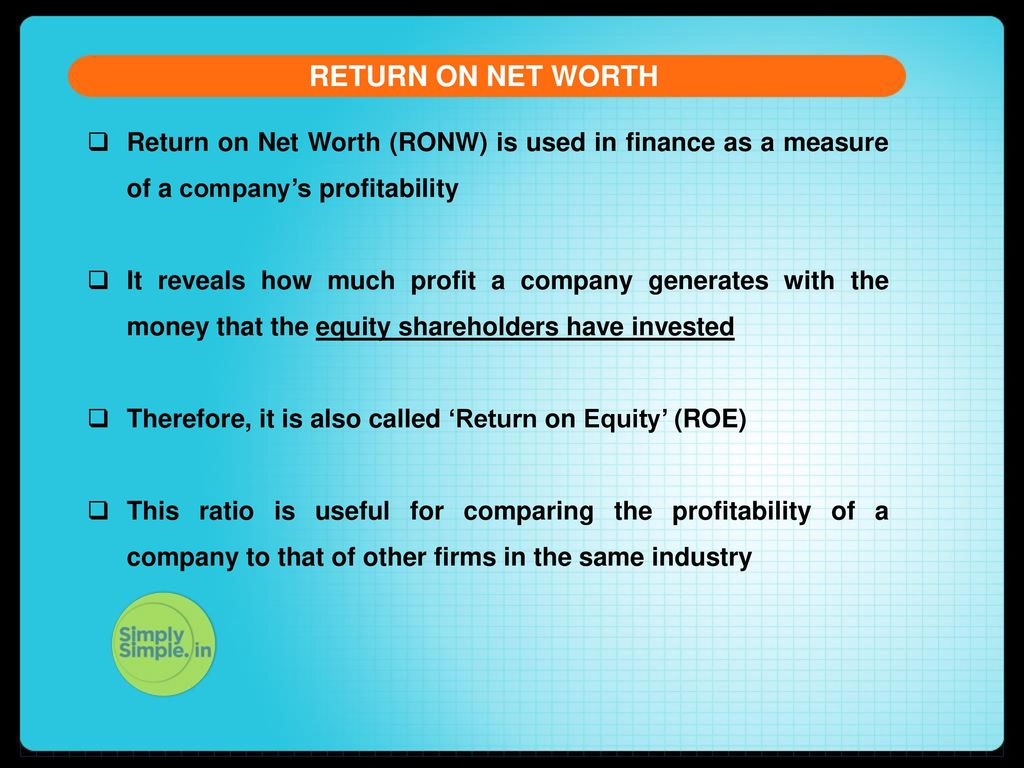 company s net worth