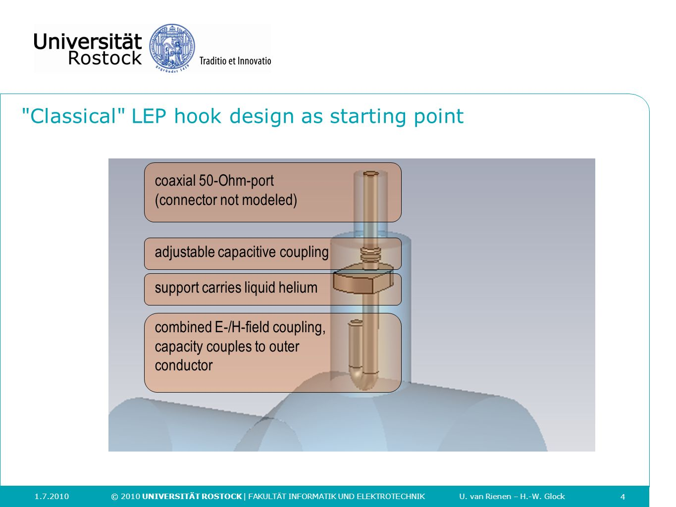 Classical LEP hook design as starting point