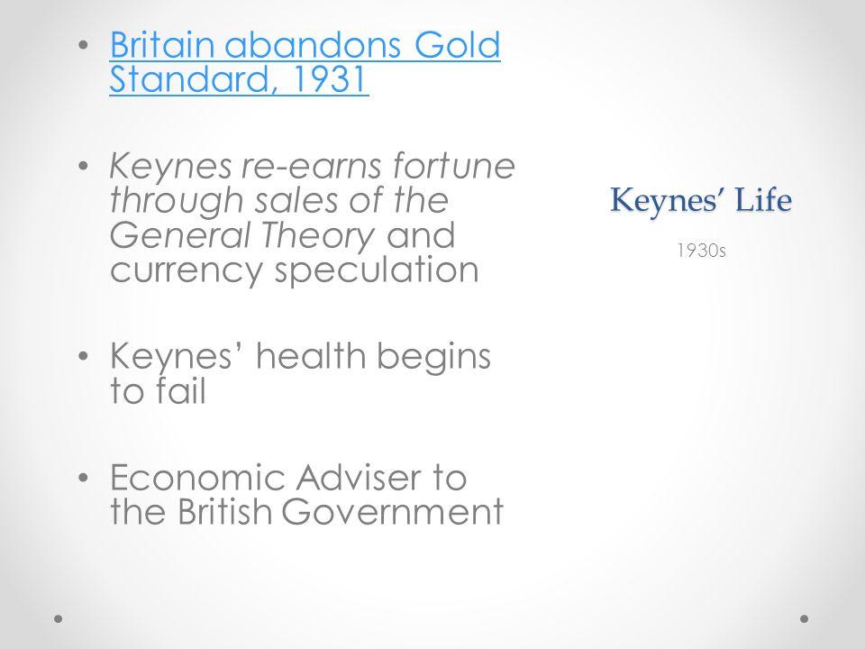 Britain abandons Gold Standard, 1931