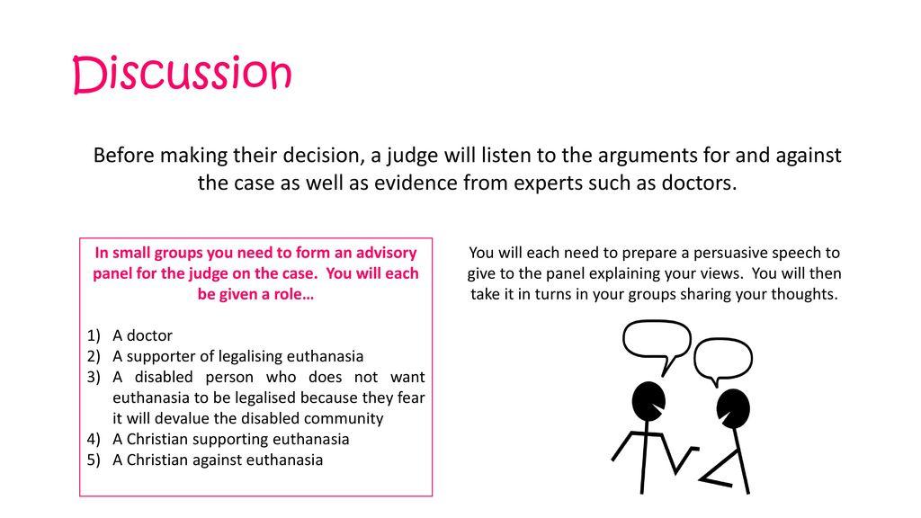 persuasive speech against euthanasia