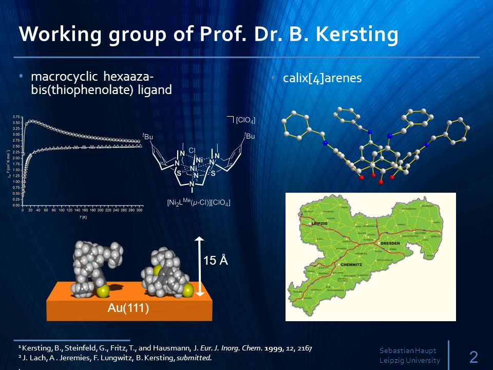 Working group of Prof. Dr. B. Kersting