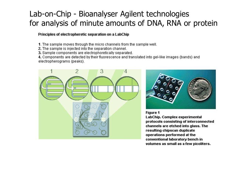 Lab-on-Chip - Bioanalyser Agilent technologies