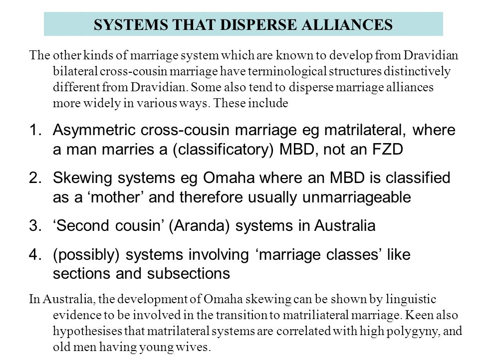 SYSTEMS THAT DISPERSE ALLIANCES
