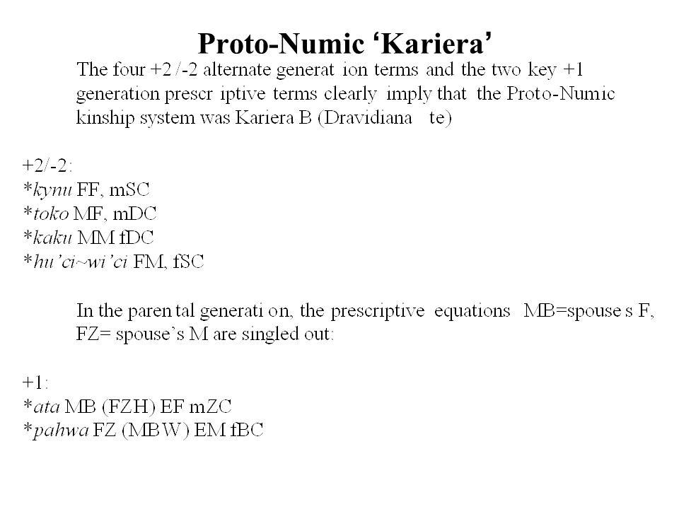 Proto-Numic 'Kariera'