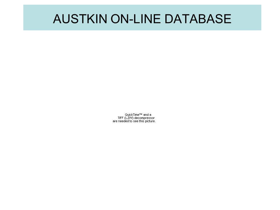AUSTKIN ON-LINE DATABASE