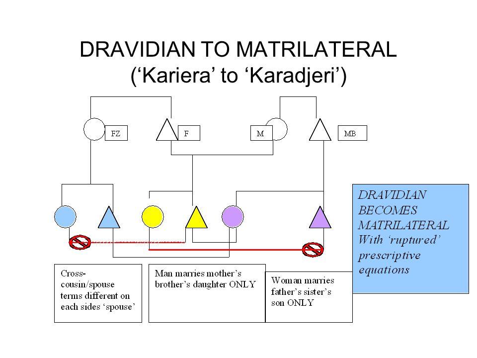 DRAVIDIAN TO MATRILATERAL ('Kariera' to 'Karadjeri')