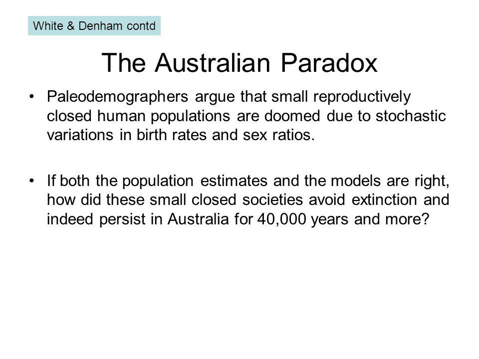 The Australian Paradox