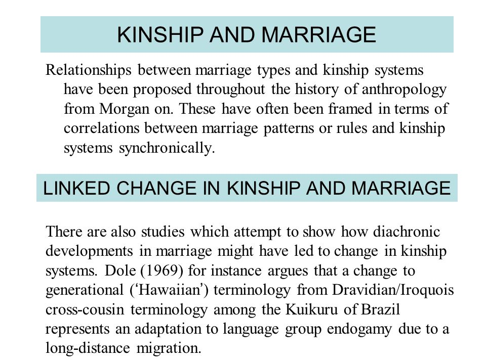 LINKED CHANGE IN KINSHIP AND MARRIAGE