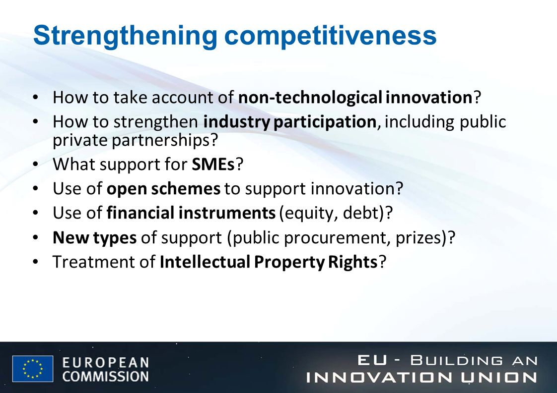 Strengthening competitiveness