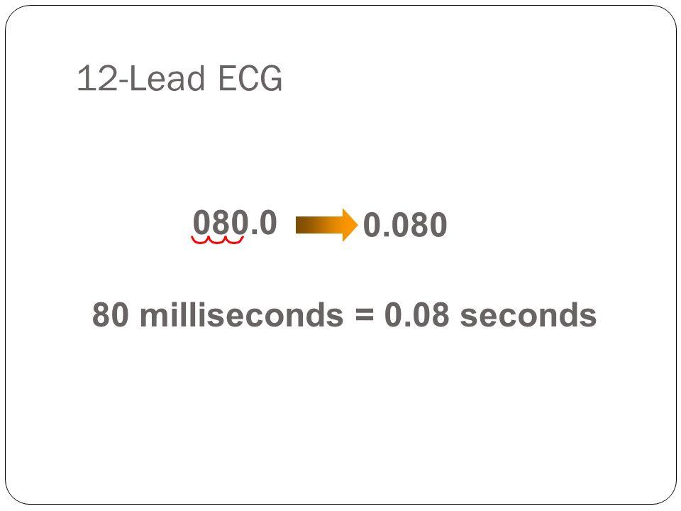 80 milliseconds = 0.08 seconds