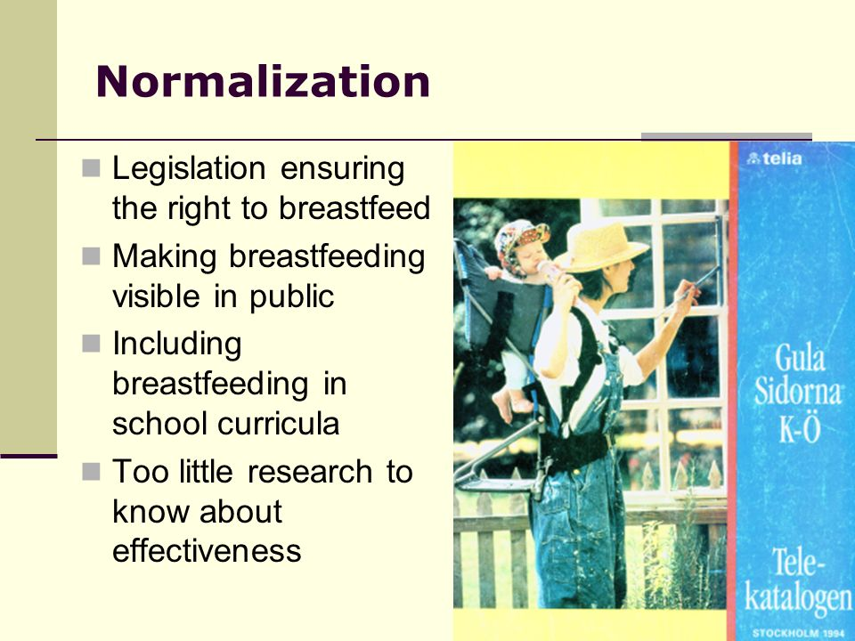 Normalization Legislation ensuring the right to breastfeed