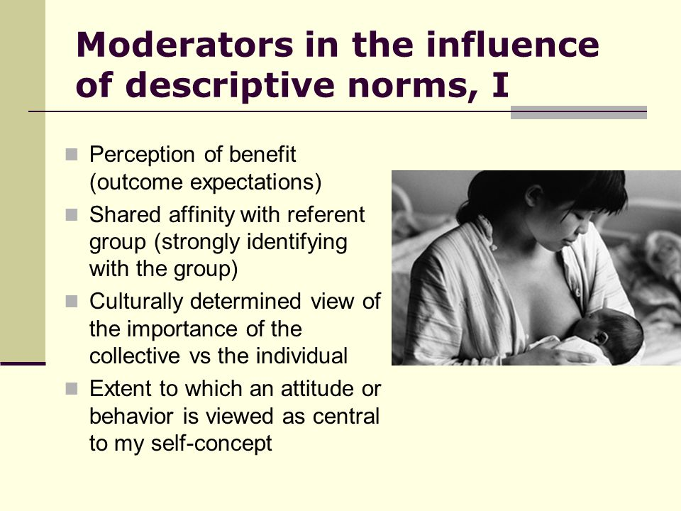Moderators in the influence of descriptive norms, I
