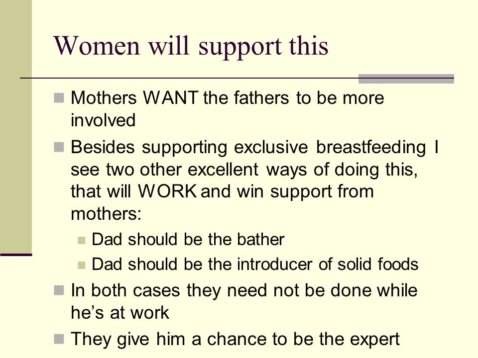 Women will support this