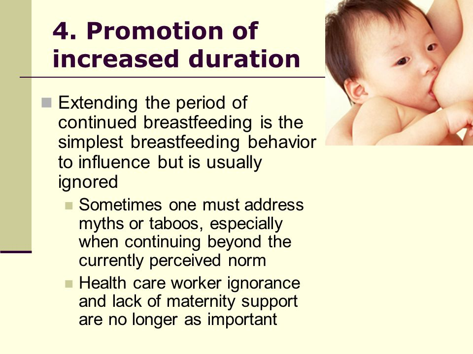 4. Promotion of increased duration
