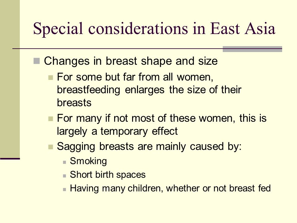 Special considerations in East Asia