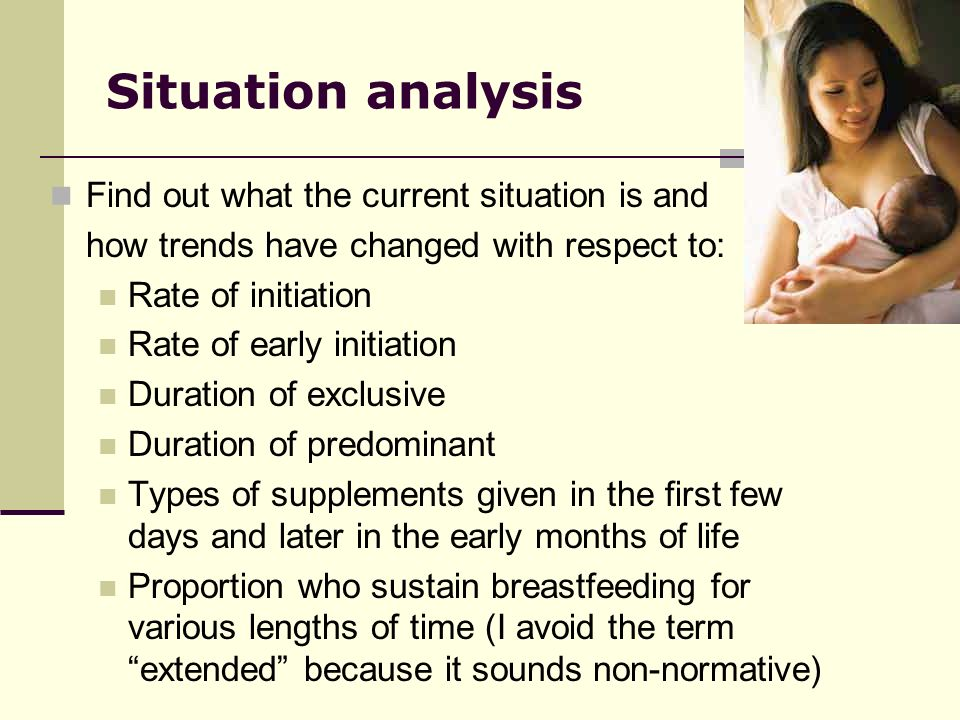 Situation analysis Find out what the current situation is and