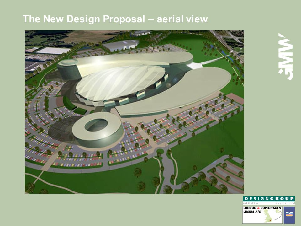The New Design Proposal – aerial view