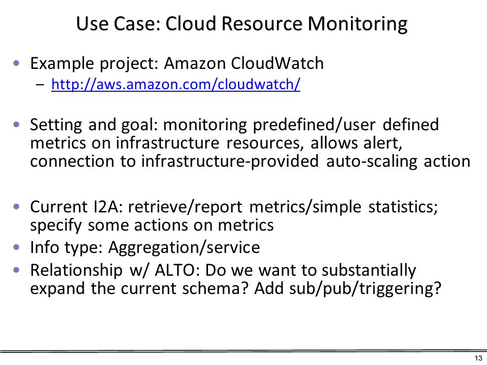 Use Case: Cloud Resource Monitoring