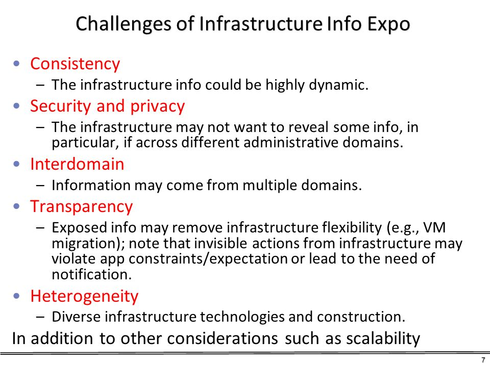 Challenges of Infrastructure Info Expo