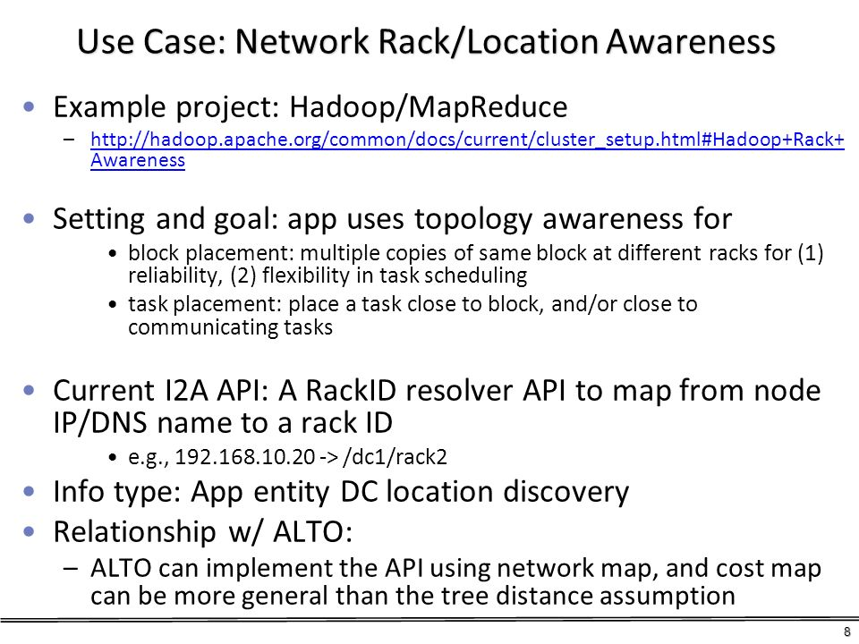 Use Case: Network Rack/Location Awareness