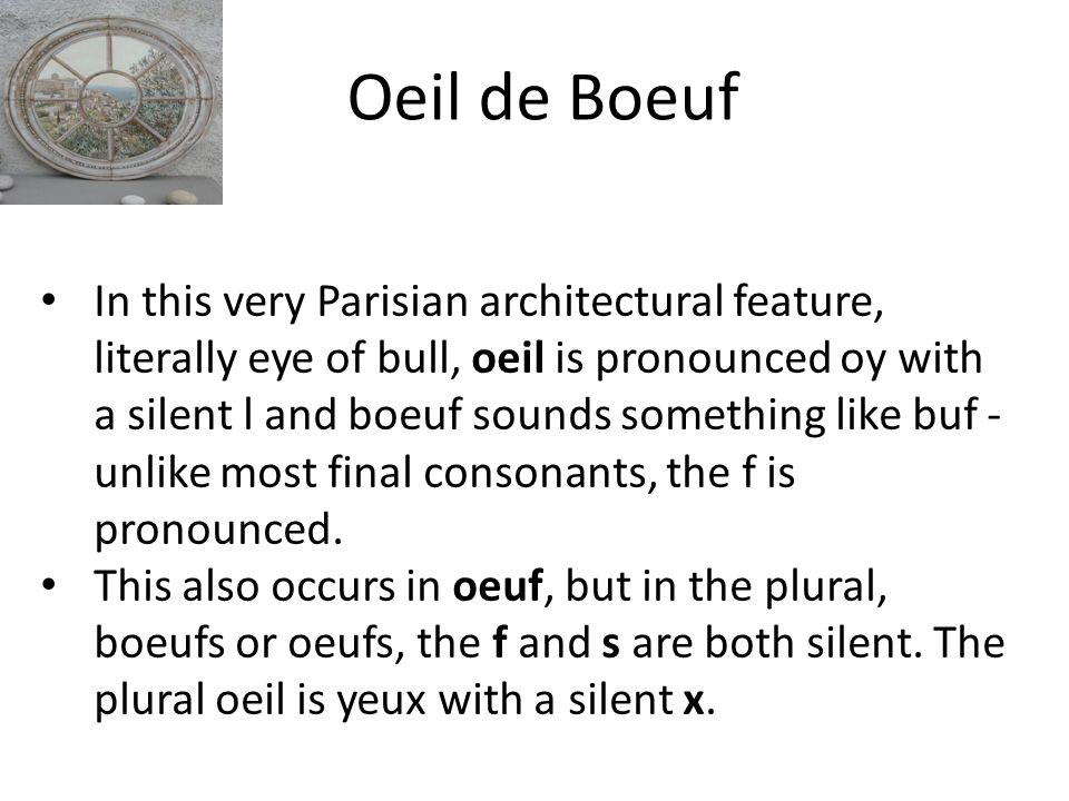 Oeil de Boeuf