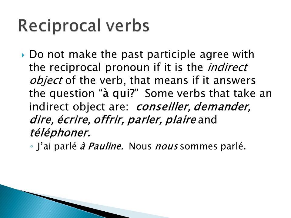 Reciprocal verbs
