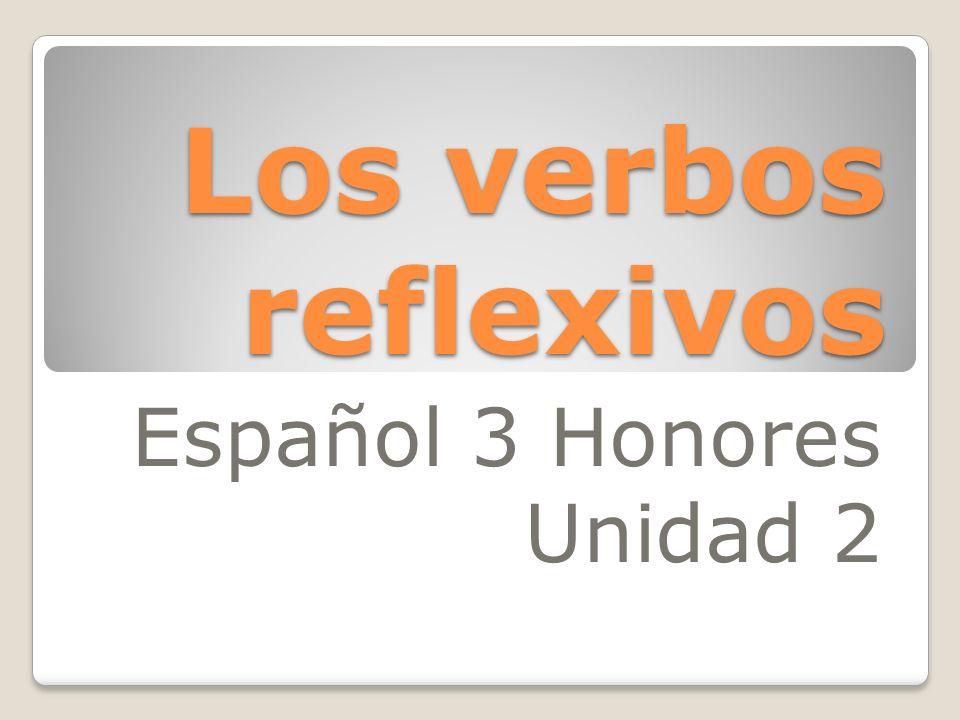 Español 3 Honores Unidad 2