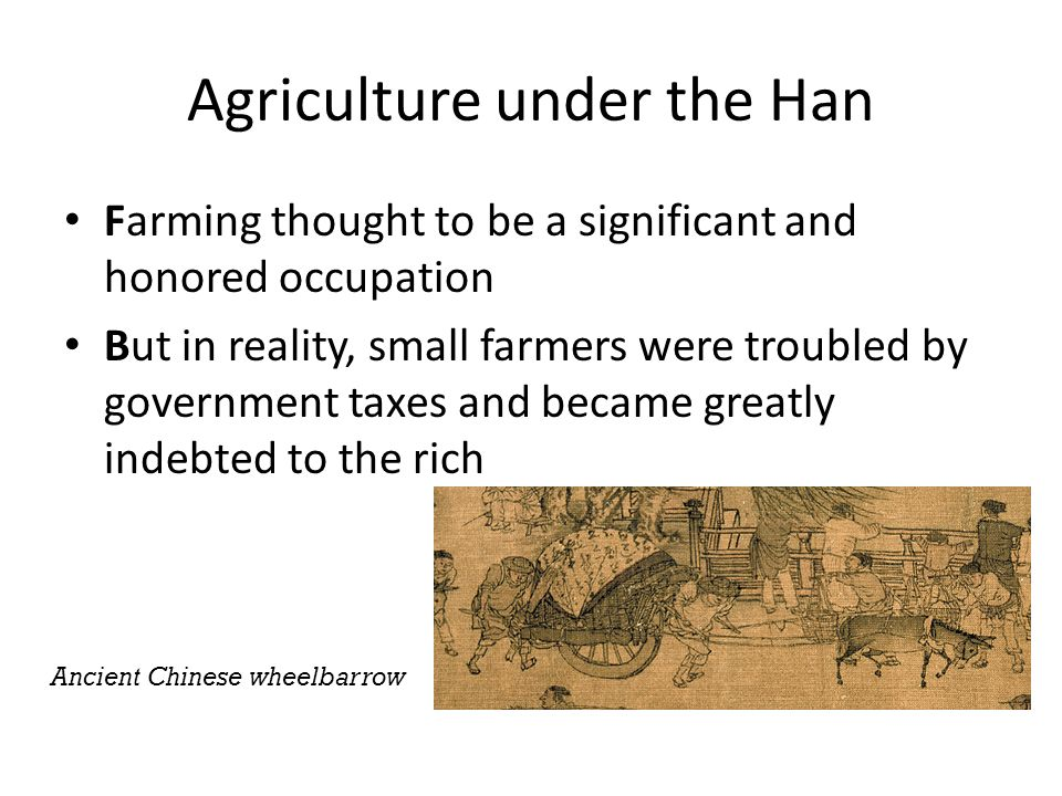 Agriculture under the Han