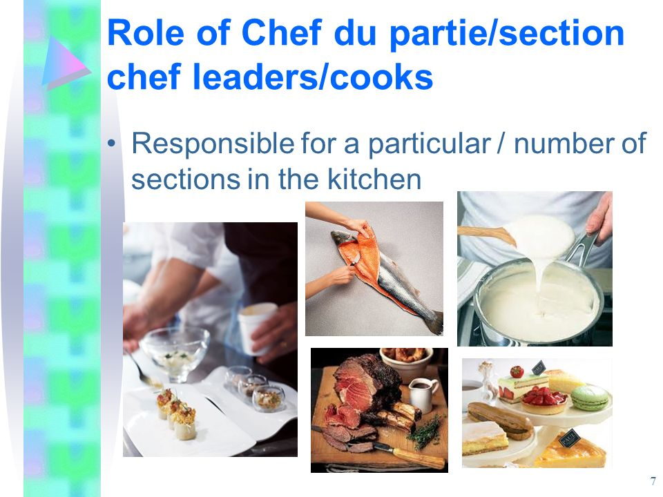 Role of Chef du partie/section chef leaders/cooks