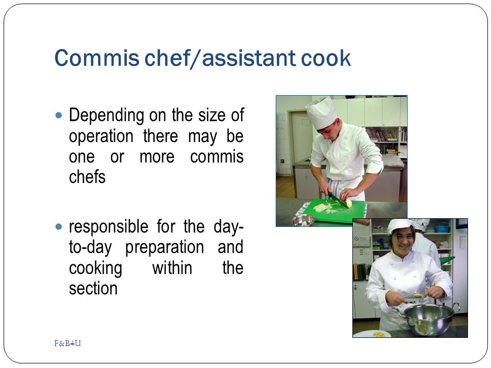 Commis chef at fischer u0027s chefs cooks u0026 kitchen - Definition commis de cuisine ...