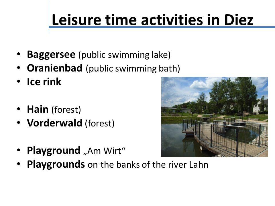 Leisure time activities in Diez