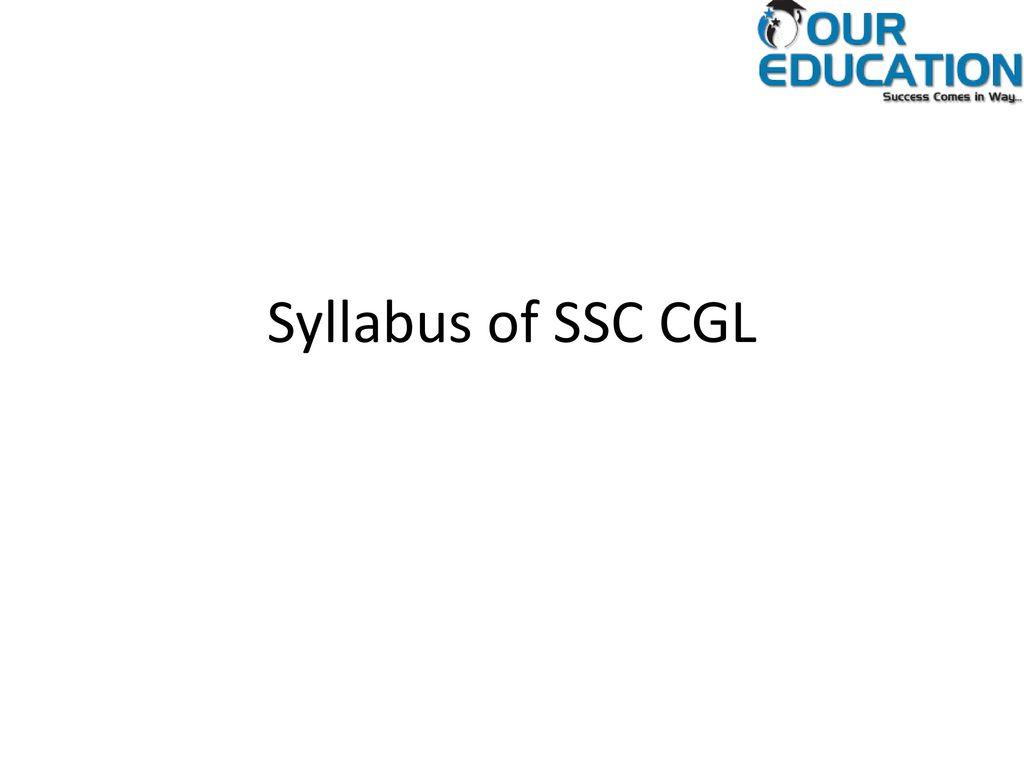 brief syllabus of ssc cgl