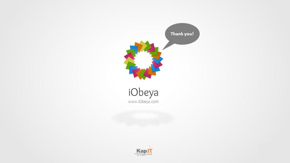 Thank you! www.iObeya.com