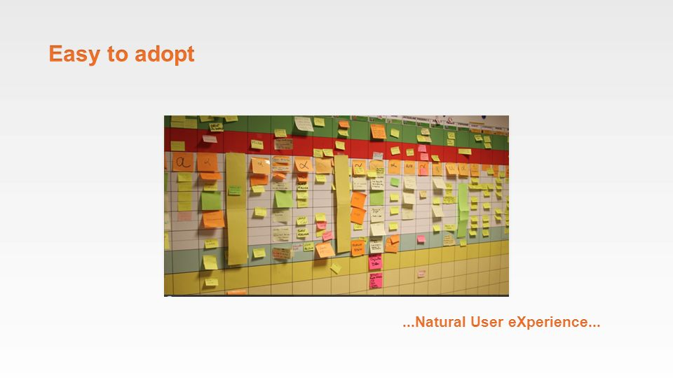 Easy to adopt ...Natural User eXperience...