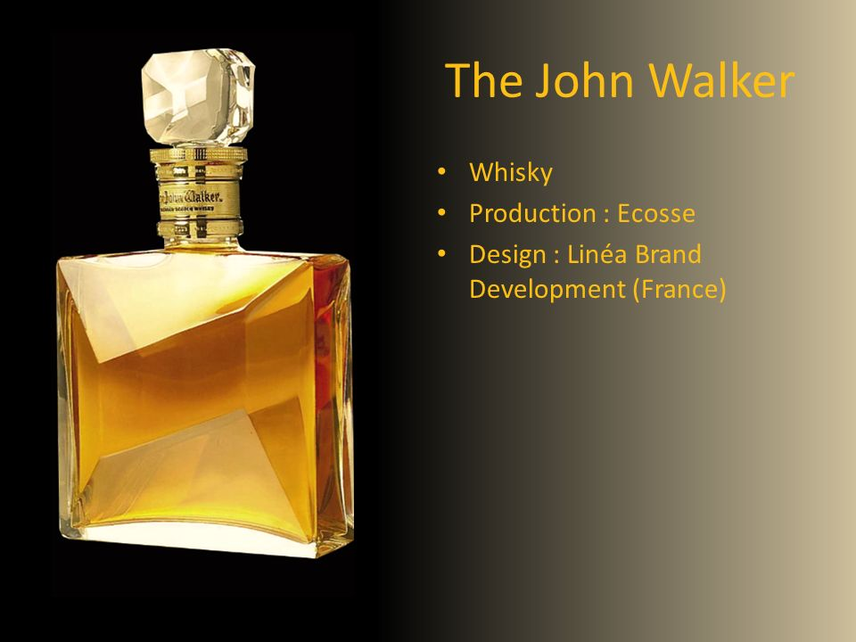 The John Walker Whisky Production : Ecosse