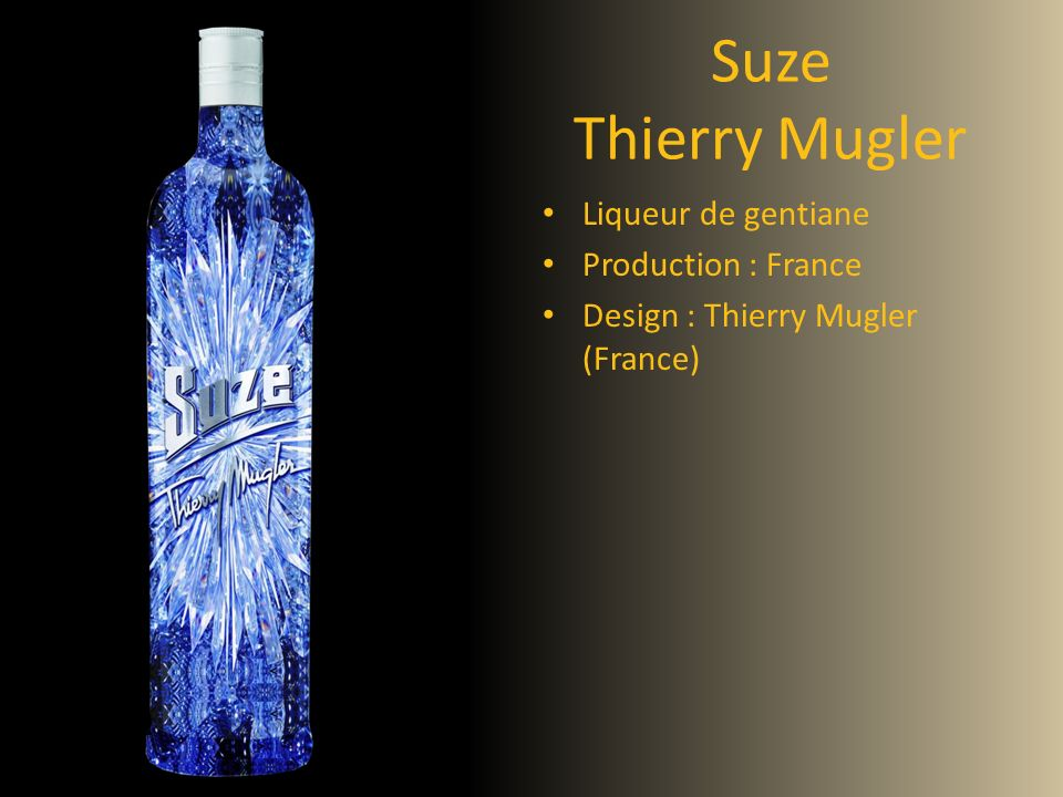Suze Thierry Mugler Liqueur de gentiane Production : France