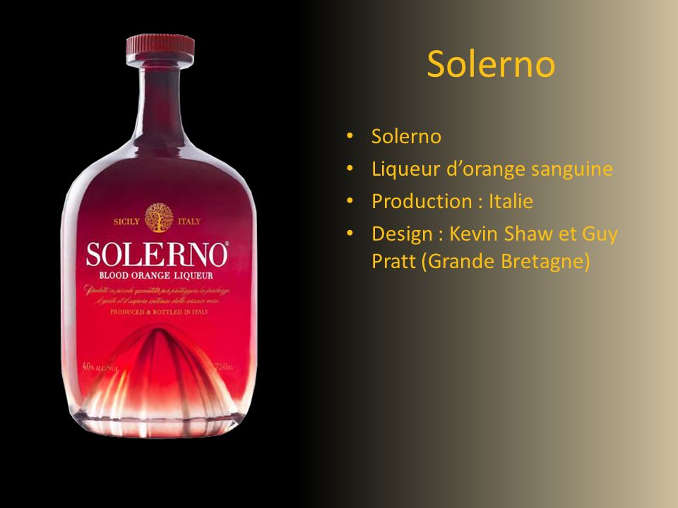 Solerno Solerno Liqueur d'orange sanguine Production : Italie