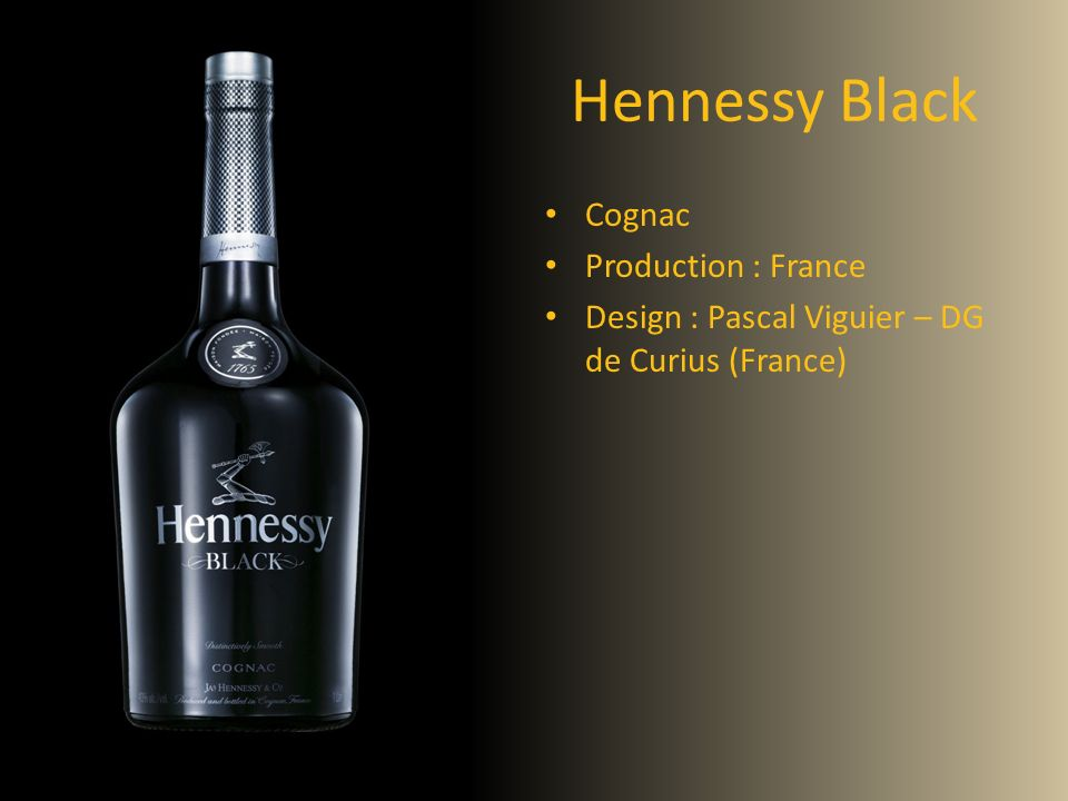 Hennessy Black Cognac Production : France