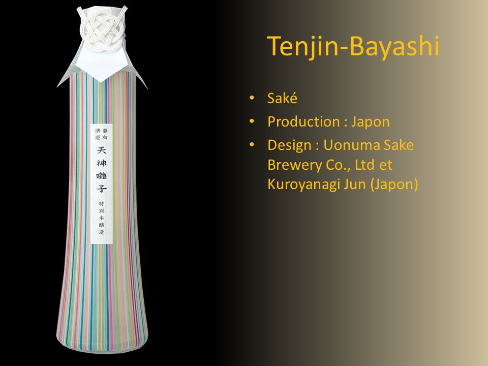 Tenjin-Bayashi Saké Production : Japon