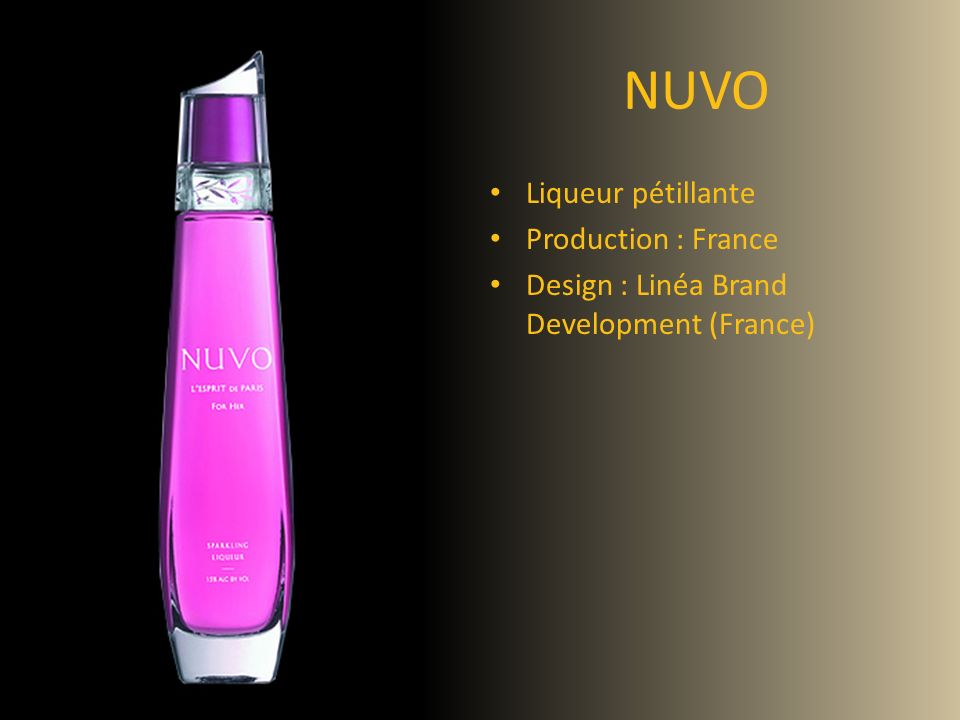 NUVO Liqueur pétillante Production : France