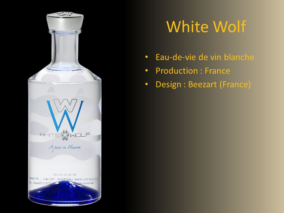 White Wolf Eau-de-vie de vin blanche Production : France
