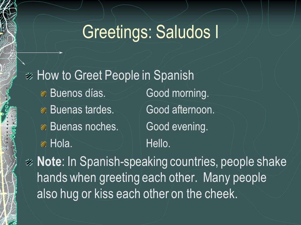 Greetings: Saludos I How to Greet People in Spanish