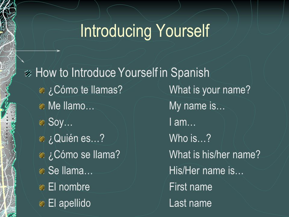 Introducing Yourself How to Introduce Yourself in Spanish
