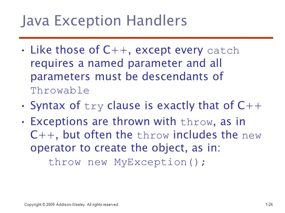 Java Exception Handlers