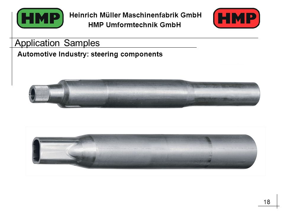 Application Samples Automotive Industry: steering components