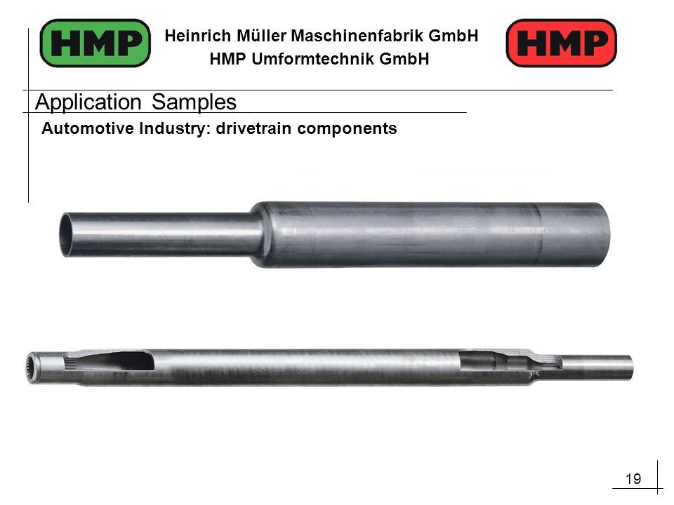 Application Samples Automotive Industry: drivetrain components