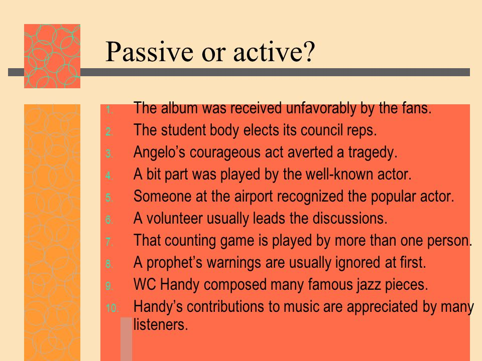 Passive or active The album was received unfavorably by the fans.