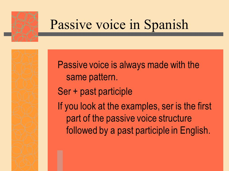 Passive voice in Spanish