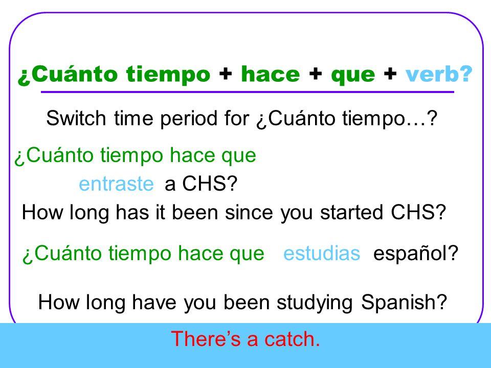 ¿Cuánto tiempo + hace + que + verb