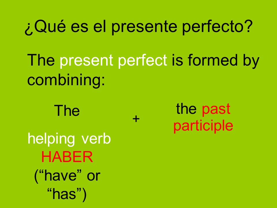 ¿Qué es el presente perfecto